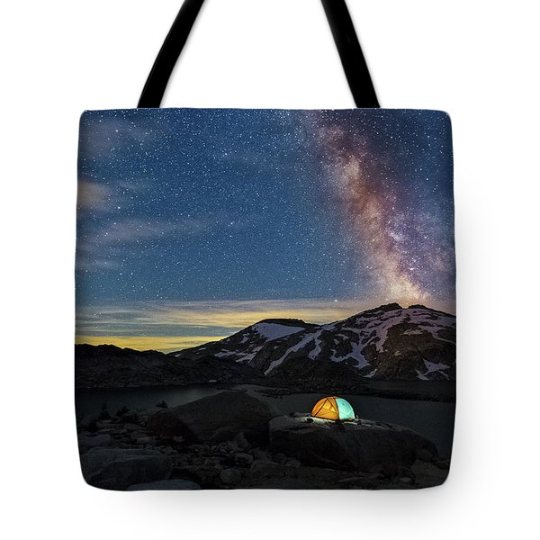 Mountain Trekking Tote Bag