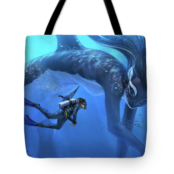 The Encounter Tote Bag by Aaron Blaise