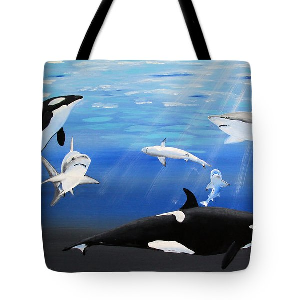 The Encounter Tote Bag by Luis F Rodriguez