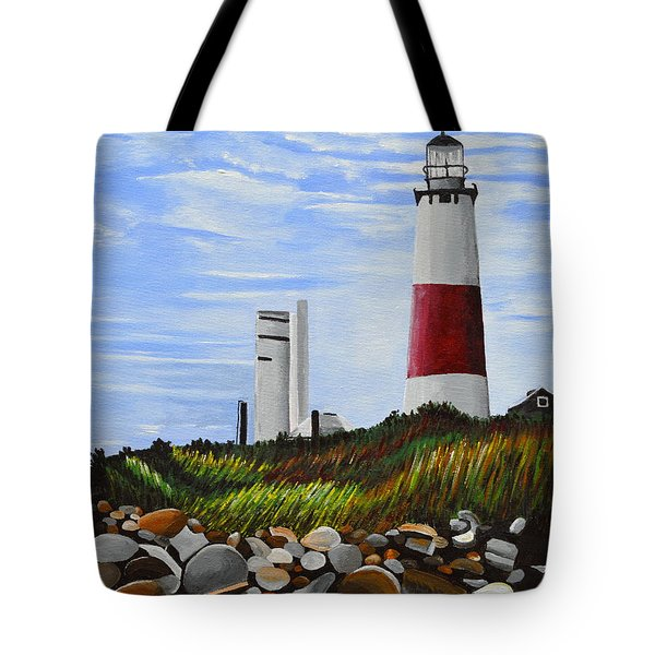 Tote Bag featuring the painting The End by Donna Blossom