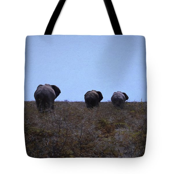 Tote Bag featuring the digital art The End by Ernie Echols