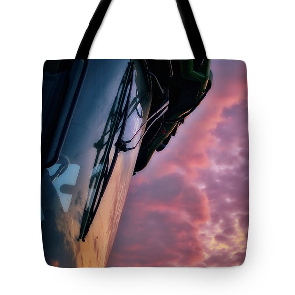 Tote Bag featuring the photograph The End Of A Long Day by Mark Dodd