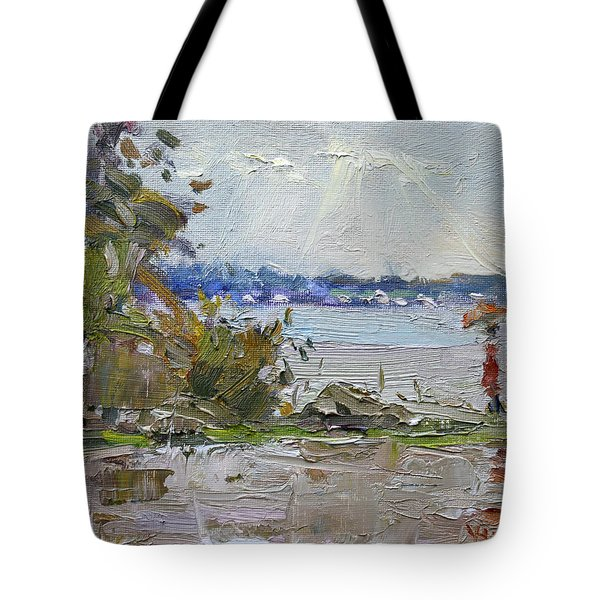 The End Of A Rainy And Gray Day  Tote Bag