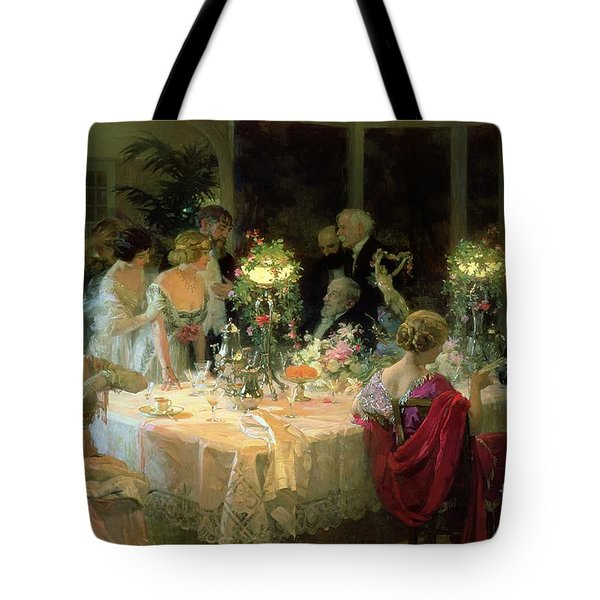 The End Of Dinner Tote Bag by Jules Alexandre Grun
