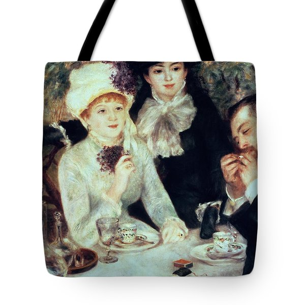 The End Of Luncheon Tote Bag by Pierre Auguste Renoir