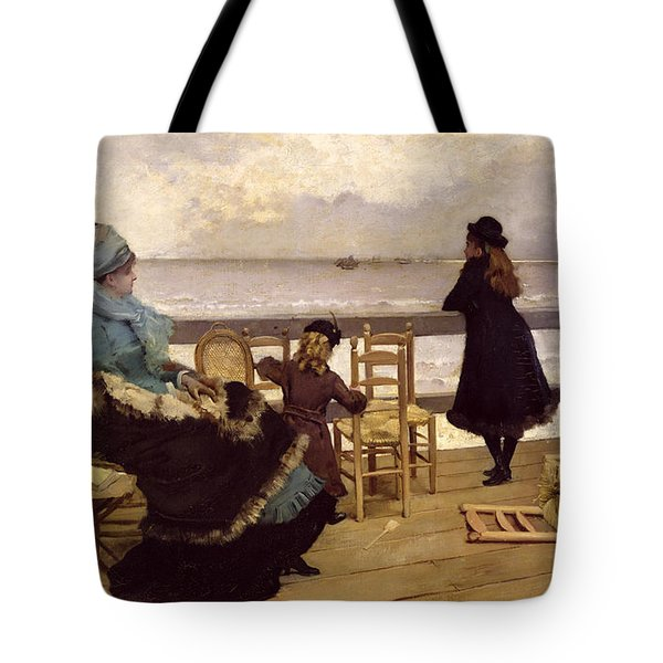 The End Of October Tote Bag by Ernest Ange Duez
