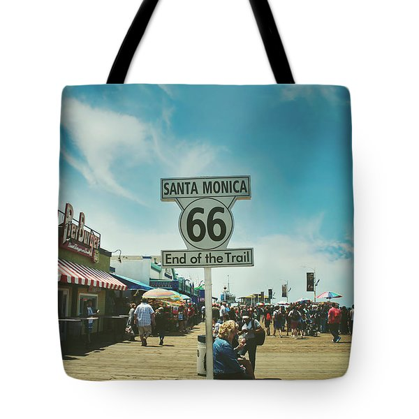 The End Of Sixty-six Tote Bag by Laurie Search