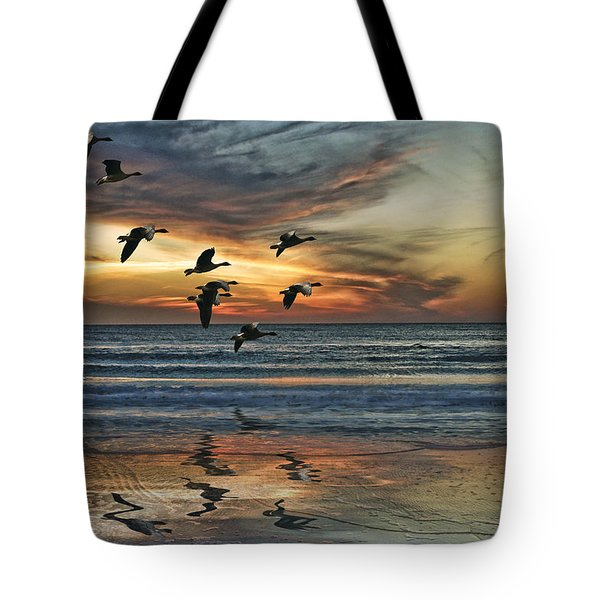 Tote Bag featuring the photograph The End Of The Day by Brian Tarr