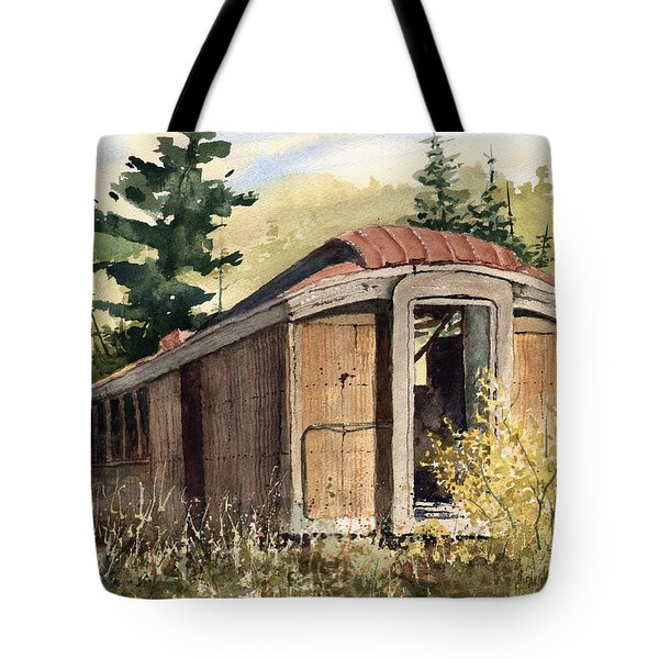 Tote Bag featuring the painting The End Of The Line by Sam Sidders