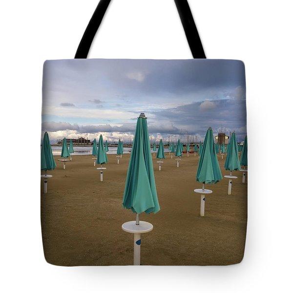 The End Of The Season In Rimini Tote Bag