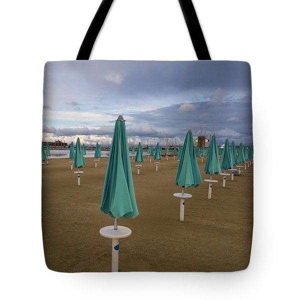 The End Of The Season In Rimini Tote Bag