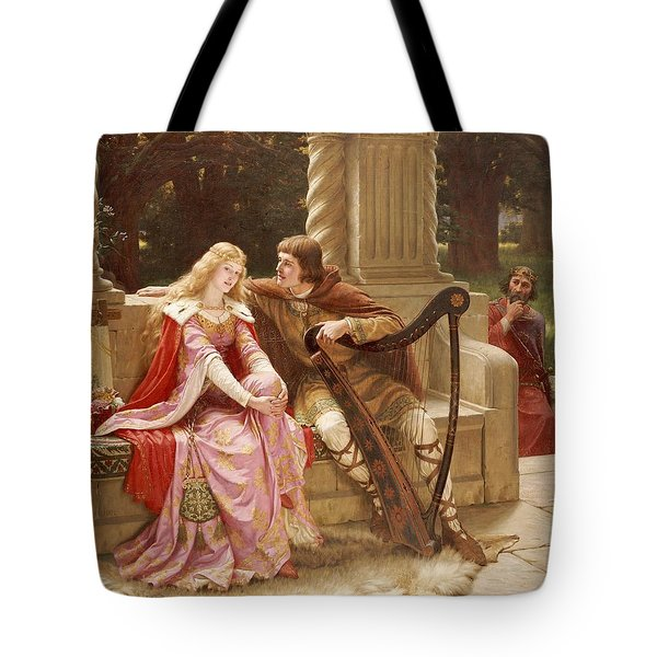 The End Of The Song Tote Bag by Edmund Blair Leighton