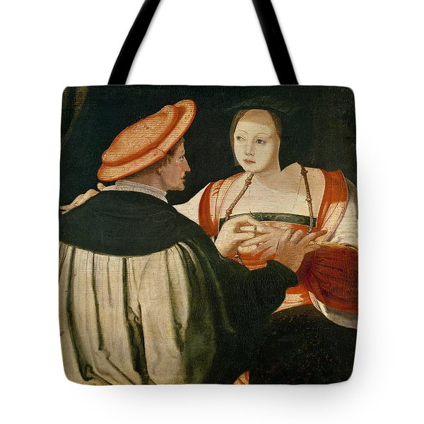 The Engagement Tote Bag by Lucas van Leyden
