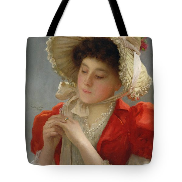 The Engagement Ring Tote Bag by John Shirley Fox