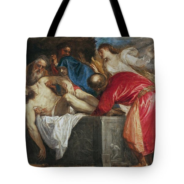 The Entombment Of Christ Tote Bag by Titian