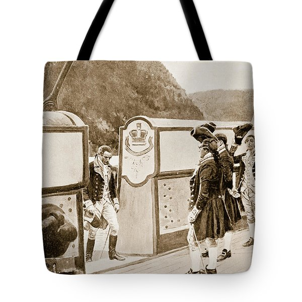 The Escape Of Arnold On The British Sloop Of War, Vulture  Tote Bag