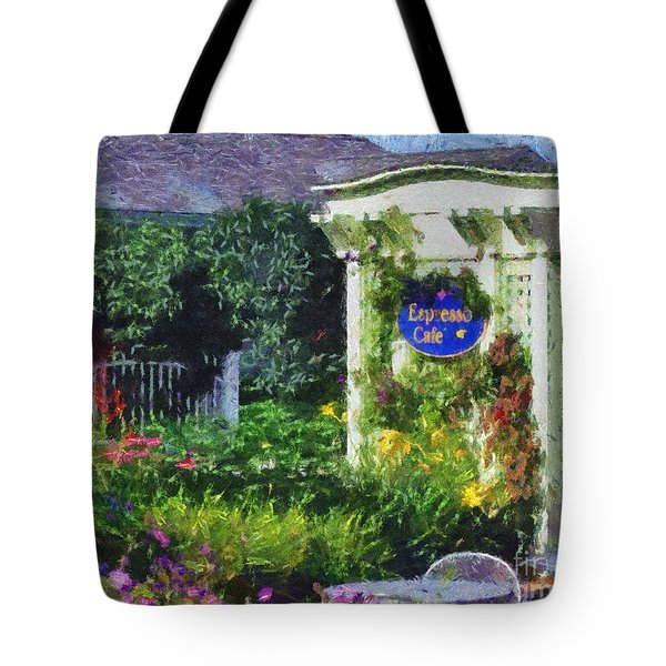 The Espresso Cafe Tote Bag