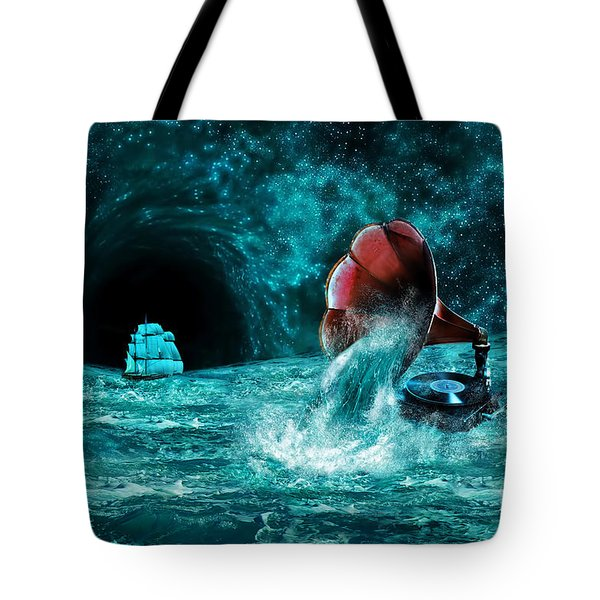 Tote Bag featuring the digital art The Eternal Ballad Of The Sea by Olga Hamilton