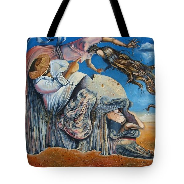 The Eternal Obsession Of Don Quijote Tote Bag by Darwin Leon
