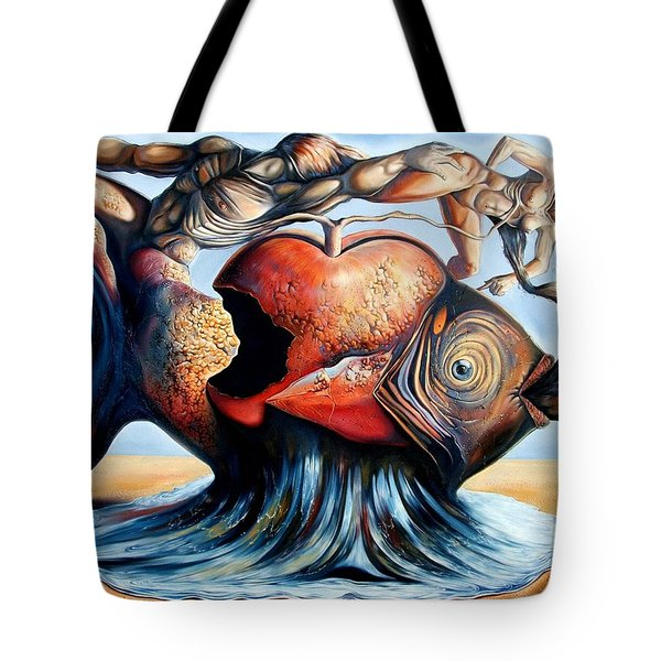 The Eternal Question Of Time Tote Bag by Darwin Leon