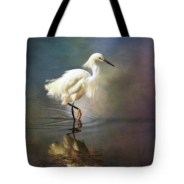 The Ethereal Egret Tote Bag