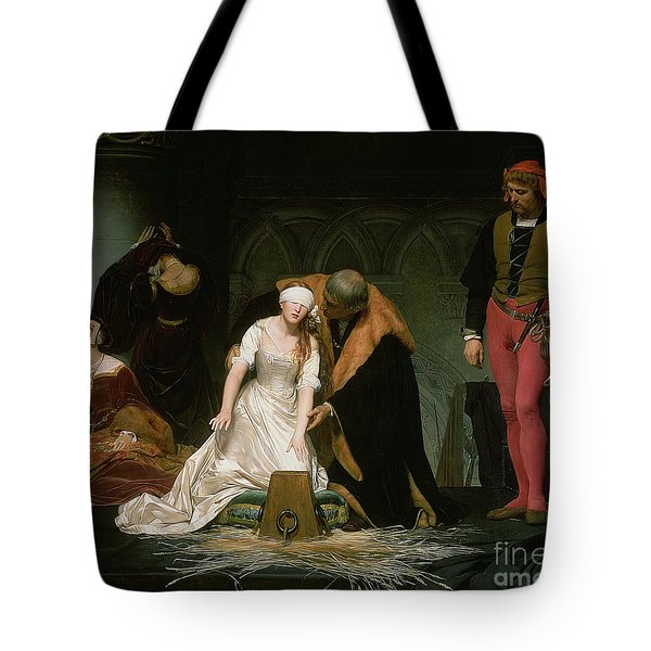 The Execution Of Lady Jane Grey Tote Bag by Hippolyte Delaroche