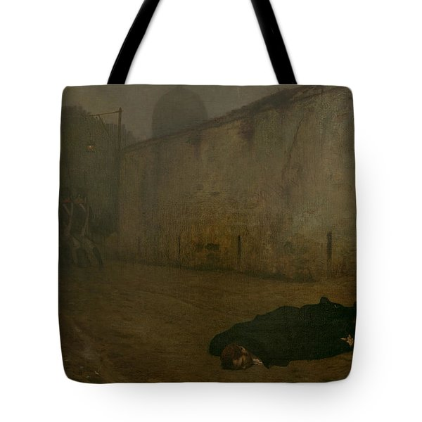 The Execution Of Marshal Ney Tote Bag by Jean Leon Gerome