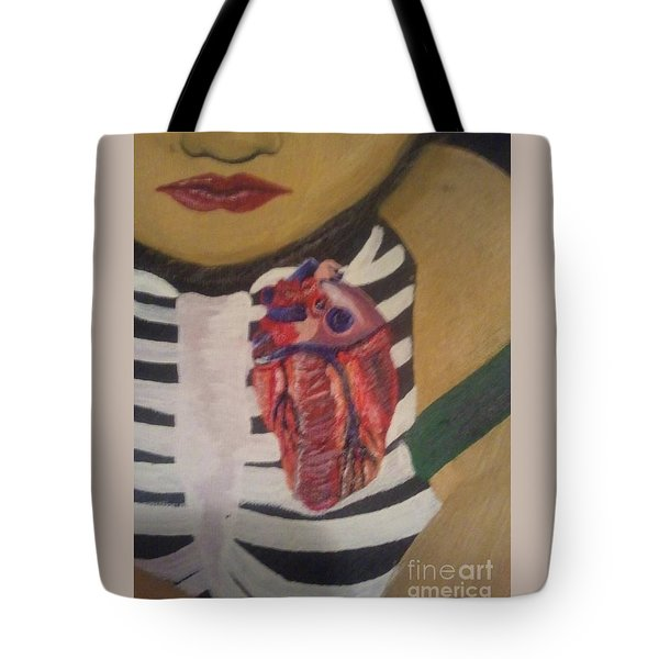 The Exposed Heart Of An Angel Tote Bag