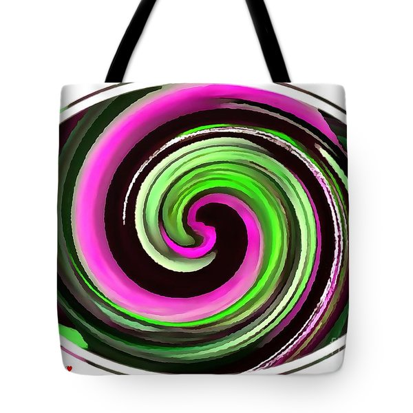 Tote Bag featuring the painting The Eye by Catherine Lott