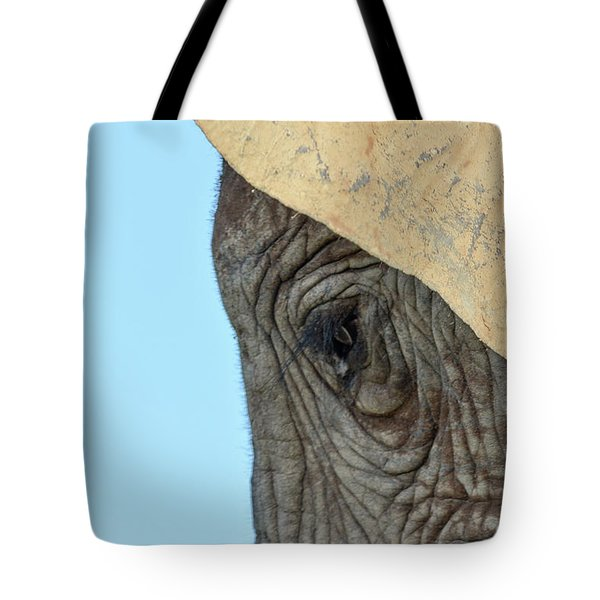 The Eye Of An Elephant Tote Bag