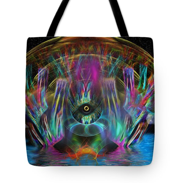 Tote Bag featuring the digital art The Eye Of Horus by Mario Carini