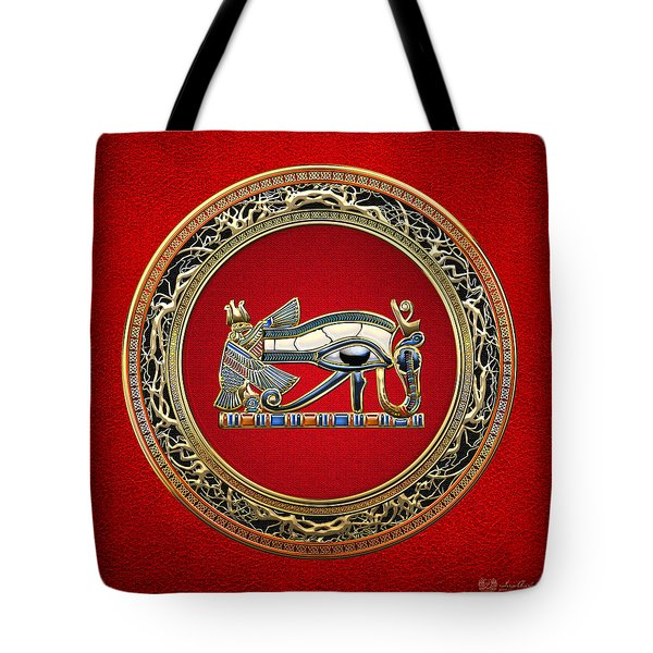 The Eye Of Horus On Red Tote Bag