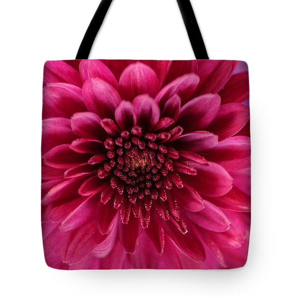 The Eye Of Pink Flower Tote Bag