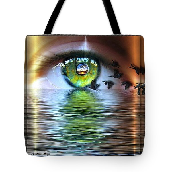 The Eye Of The Observer Tote Bag by Nadine May
