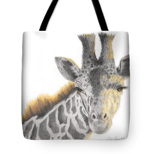 Tote Bag featuring the drawing The Eyes Have It by Phyllis Howard