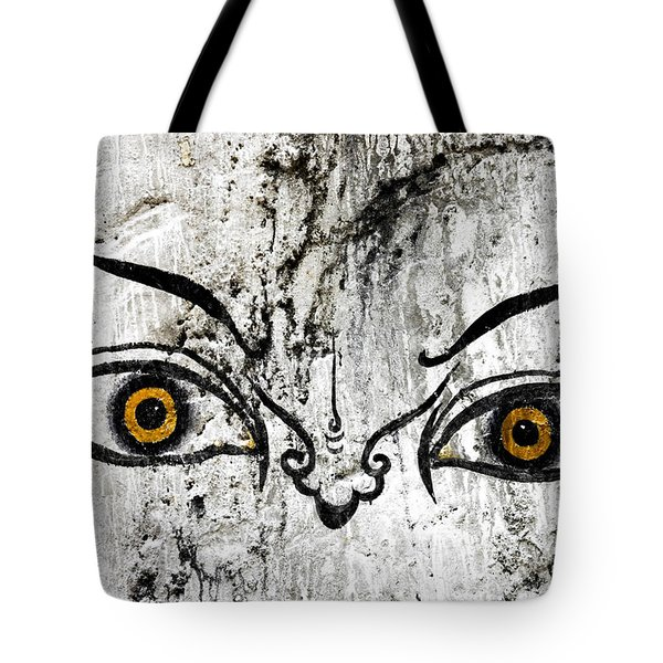 The Eyes Of Guru Rimpoche  Tote Bag