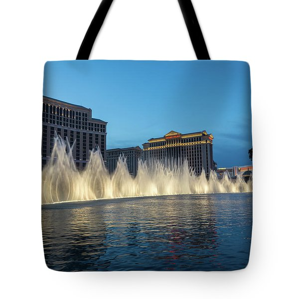 The Fabulous Fountains At Bellagio - Las Vegas Tote Bag