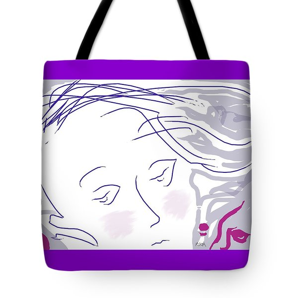 The Face Tote Bag by Mary Armstrong