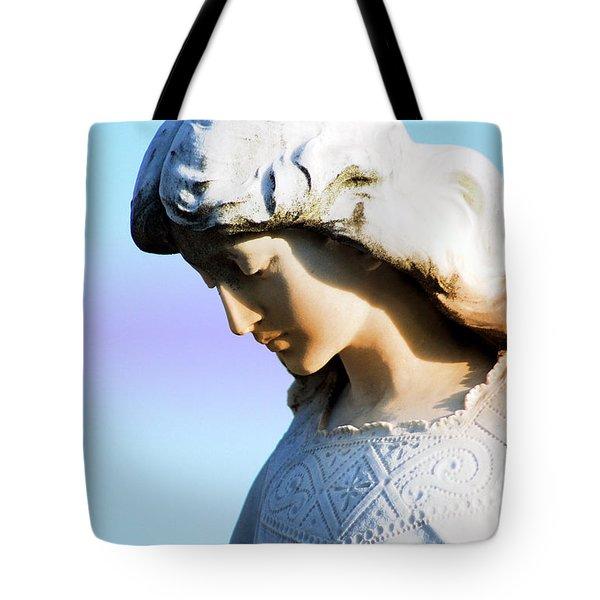The Face Of An Angel Tote Bag by Susanne Van Hulst