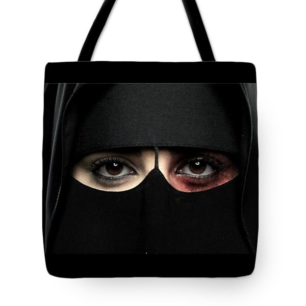 Tote Bag featuring the photograph The Face Of Saudi by Pg Reproductions