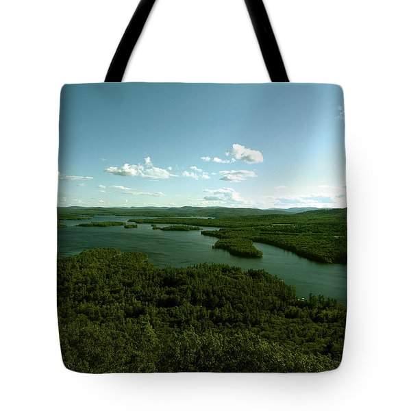 The Face Of Squam Tote Bag by Rick Frost