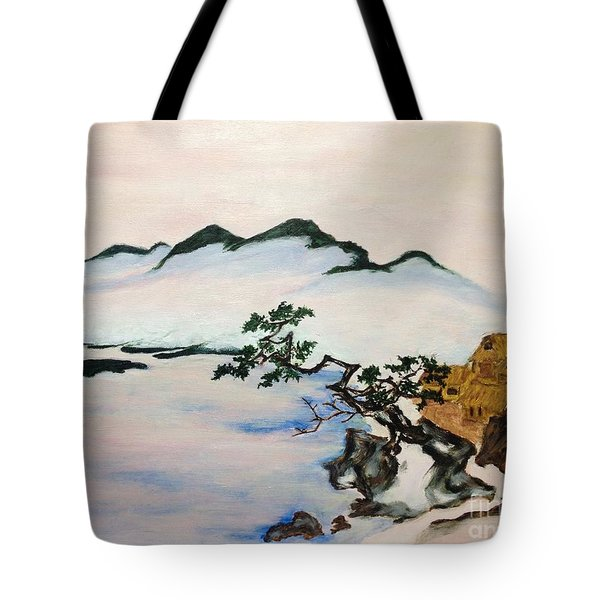 The Fading Spirit Of Chikanobu Awakened By Shintoism Tote Bag by Sawako Utsumi
