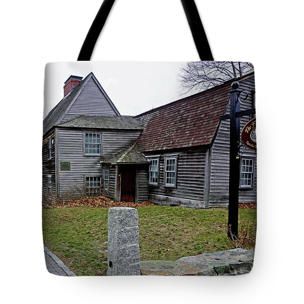 Tote Bag featuring the photograph The Fairbanks House by Wayne Marshall Chase