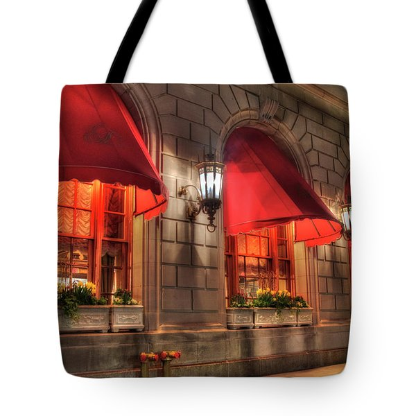 Tote Bag featuring the photograph The Fairmont Copley Plaza Hotel - Boston by Joann Vitali