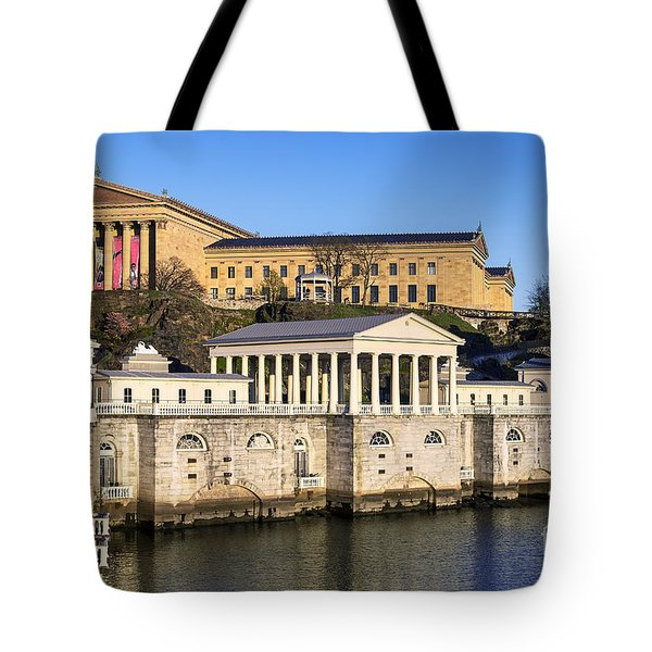 The Fairmount Water Works And Art Museum Tote Bag by John Greim