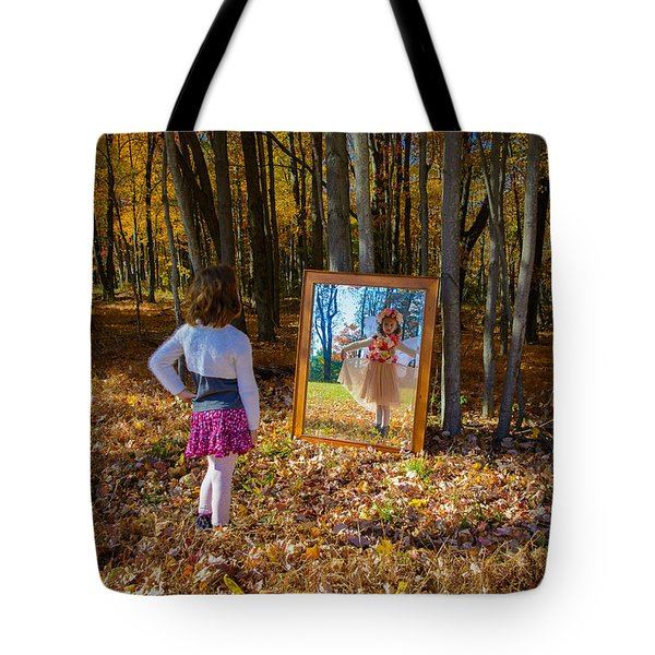 The Fairy In The Mirror Tote Bag