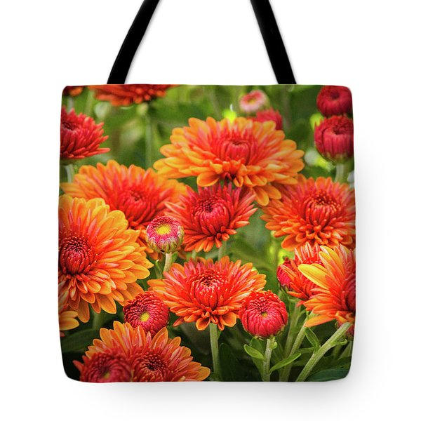Tote Bag featuring the photograph The Fall Bloom by Bill Pevlor