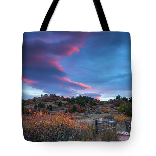 The Fall Meadow Tote Bag
