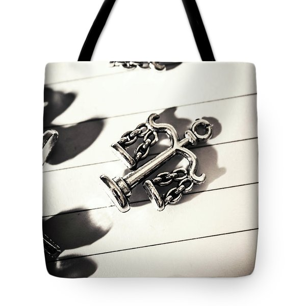 The Fall Of Justice Tote Bag