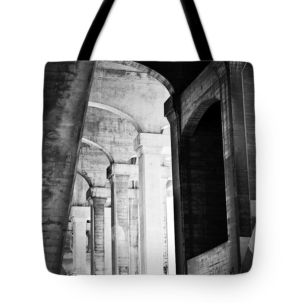 the fall of the house of Escher Tote Bag